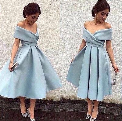 short Prom Dresses ,prom gown,Blue short prom dress, Retro prom dresses, light blue evening dress by DestinyDress, $168.79 USD