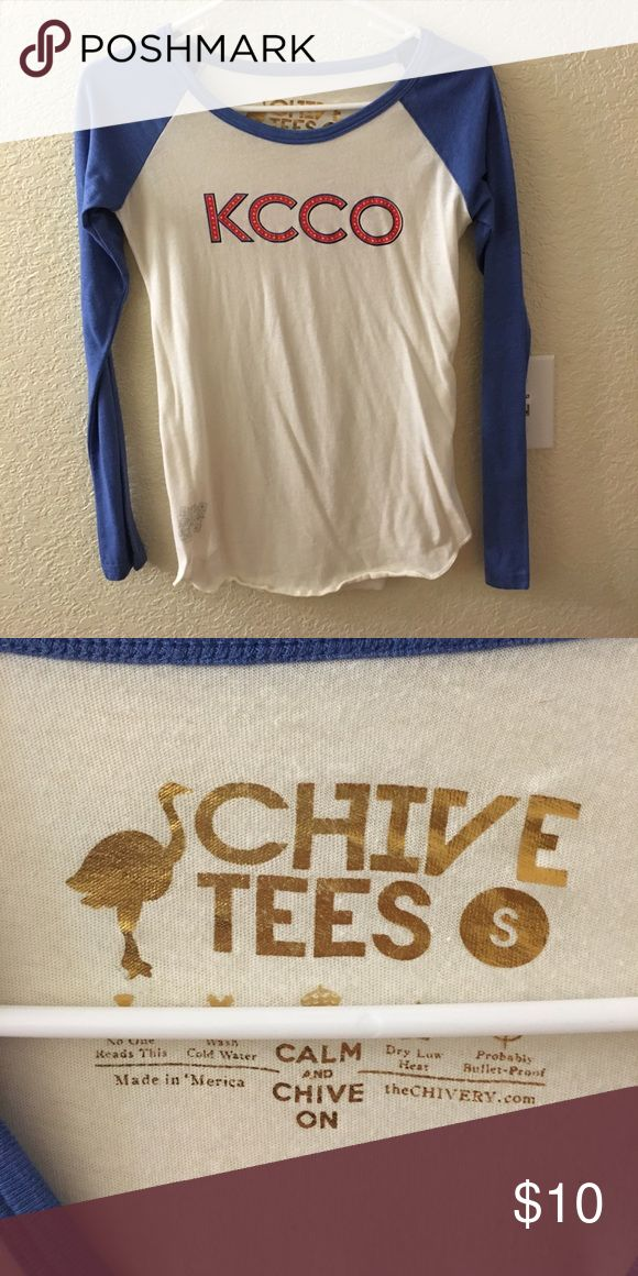 Women's Chive shirt Like new.  Baseball style. Tops Tees - Long Sleeve