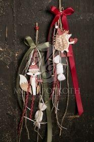 Μένη Ρογκότη - Χριστουγεννιάτικες κρεμαστές μπομπονιέρες βάπτισης ξύλινες φιγούρες σε διάφορα σχέδια