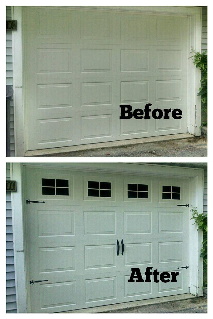 Typical height of garage door - Faux Fake Garage Door Windows Custom Carriage House Window Decals