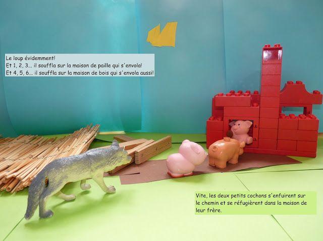 créer l'histoire en mettant en scène le matériel de la classe et en le photographiant