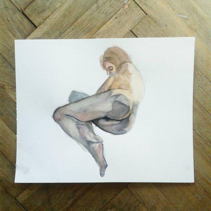 #nude #anatomy #naked #girl #watercolors #painting #art #akt #artlife #artist #showyourwork #sexy #illustratorsoninstagram