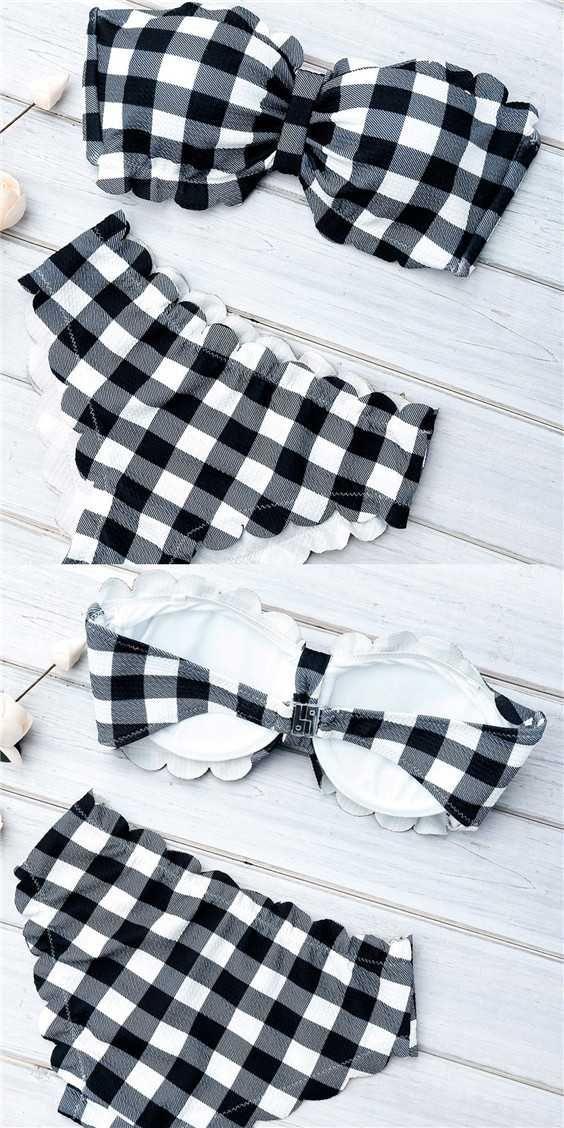 scallop bikini set mermaid bathing suit strapless swimsuit bandeau bikini black and white bikini top. Save.extra 20% OFF on $45+ Sitewide till Aug 1st use code SUMMER20%OFF.