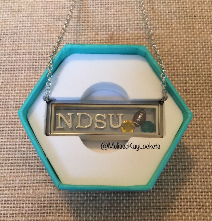Origami Owl Bar Locket  Customize your own look!  #ndsu #football #origamiowl #locket #personalize #college