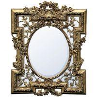 Florette Gold Gilt Leaf Bevelled Wall Mirror