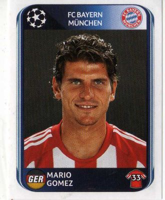 FC BAYERN MUNICH - Mario Gomez 293 PANINI UEFA Champions League 2010-2011 Football Sticker