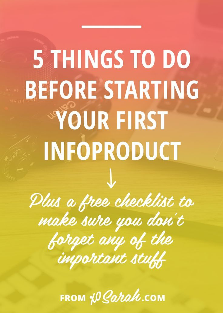 If you're itching to get into the infoproduct/passive income game then this post is for YOU. Here's exactly what you need to prep, learn, and get organized so when you're ready to launch nothing will get in your way. Click through for the five things to do before you get started!