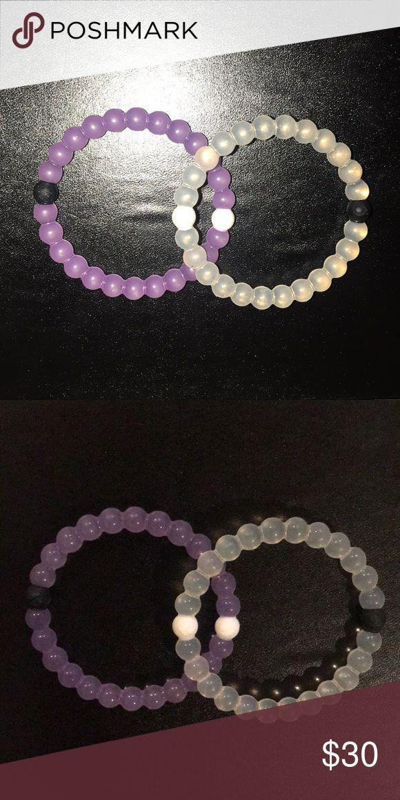 Two Lokai Bracelets Two Lokai Bracelets. 2 for $30 Purple Meaning = Alzheimer's  Clear/ Classic Bracelet. BRAND NEW- NEVER WORN- NO TAGS. Lokai Jewelry Bracelets