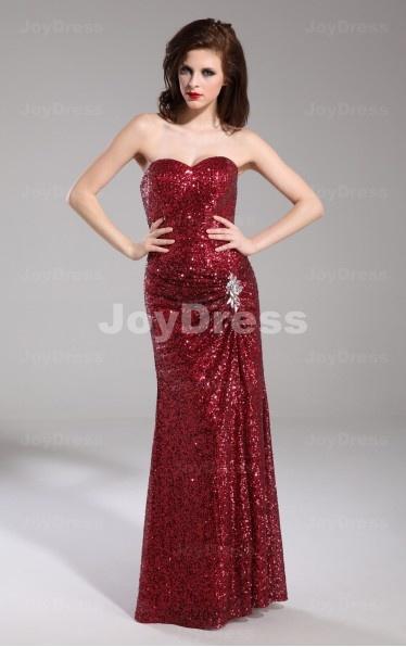 red fancy dresses on joydress.co.uk,Sequin Sheath Sweetheart Floor-length Dress,