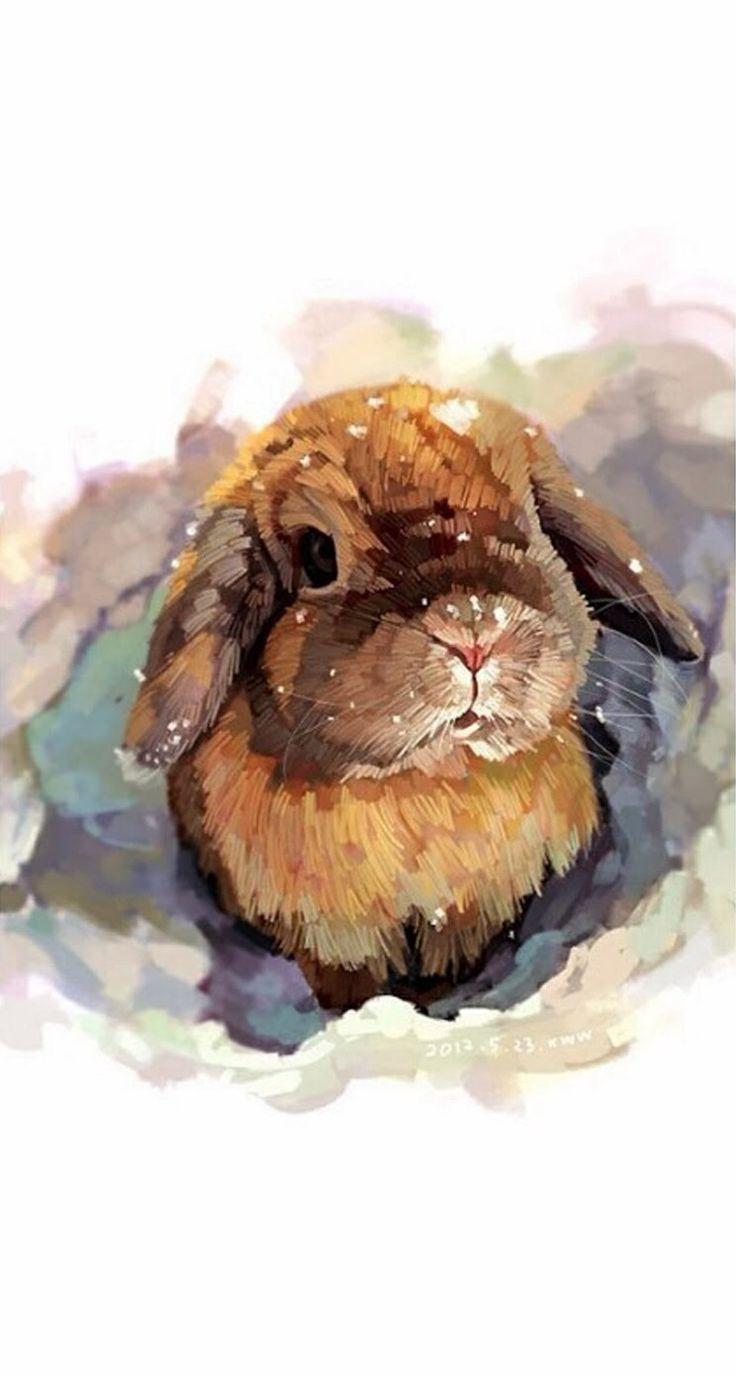 กระต่าย ในปี 2019 ภาพวาด ศิลปะสีน้ำ และ สีน้ำ