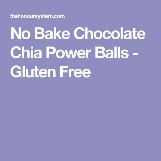 No Bake Chocolate Chia Power Balls - Gluten Free