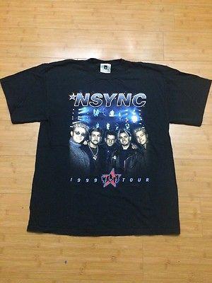 VTG 1999 Nsync Tour T Shirt 90's Justin Timberlake Concert Double Sided Large