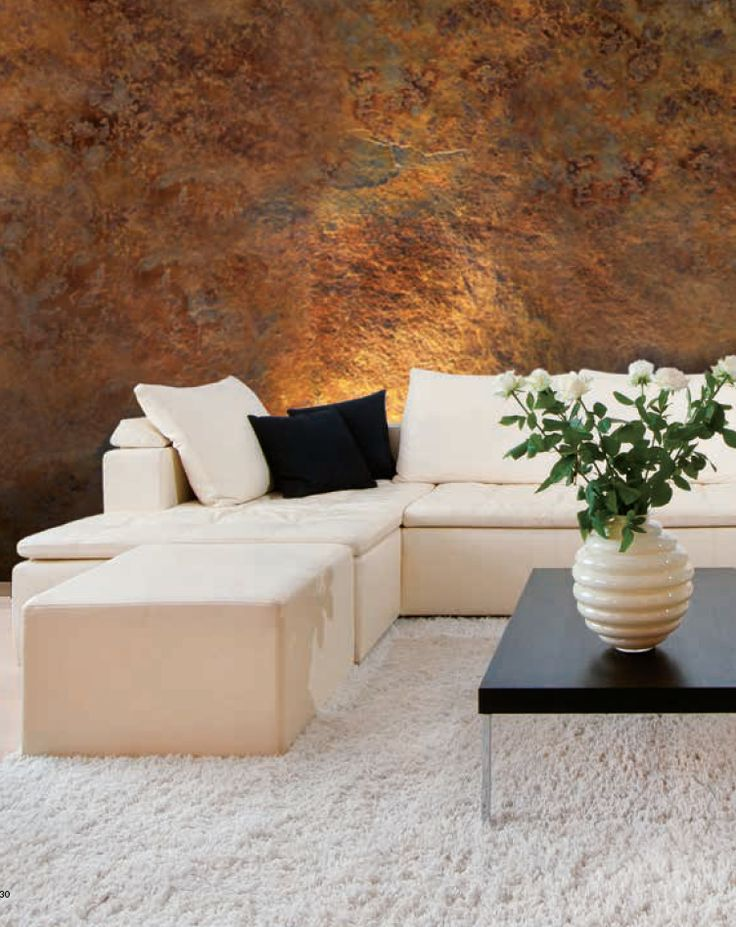 Sanmarco interior decorative painting corten effect for Interior paint effects