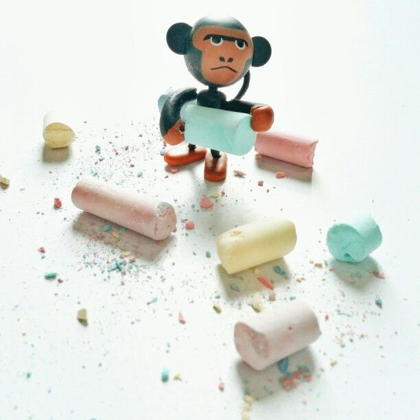Monkee.... The chalk collector