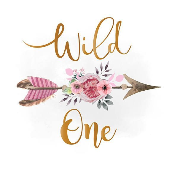 Download Wild one svg clipart, pink floral arrow Clipart, Boho ...