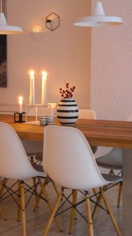 Tischdekoration heute Abend #esszimmer #diningroom #eames Foto: Gabriele S.