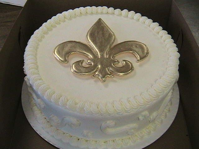 Cakes Logo New Orleans Saints Cakepins Com Wedding