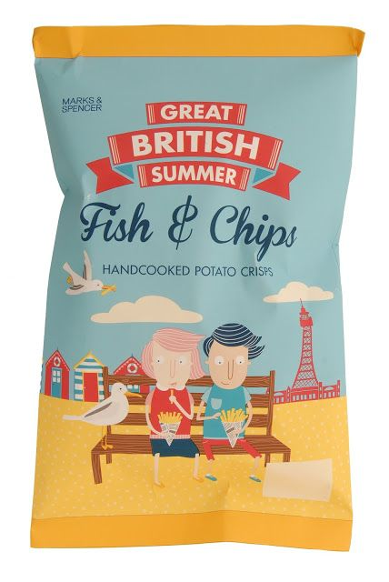 Marks & Spencer potato crisps PD great british summer! Food packaging design