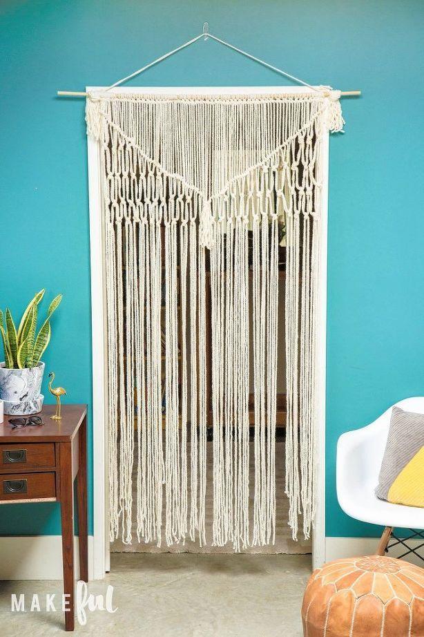 easy diy yarn macrame curtain or wall