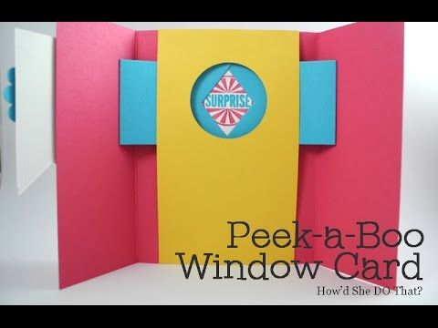 Fun Fold Peekaboo Window Card by Dawn O (aka: Shutter Card) camera style shutter