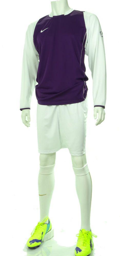 15 x Nike Mens Football Team Kits Purple & White Long Sleeves (S to 2XL) #Nike