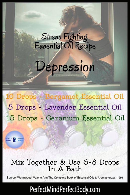 Essential Oils Recipe for Stress Symptoms - Depression