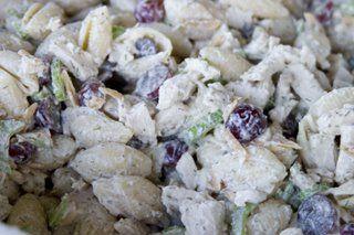 Chicken and grape pasta salad