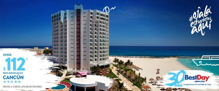 Krystal Grand Punta #Cancun se encuentra frente a la playa de la Zona Hotelera de #Cancun, a pocos pasos de centros comerciales, restaurantes, bares y clubes nocturnos. El hotel tiene una moderna decoración y ofrece una gama de servicios que incluyen varios centros de consumo, así como The Beach House Spa, un completo concepto de tratamientos de bienestar al aire libre. #BestDay #OjalaEstuvierasAqui