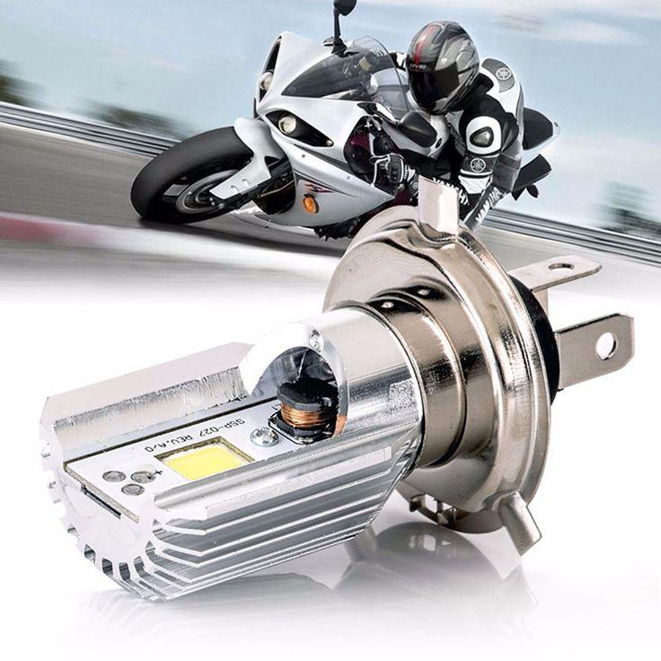 Universal Motorcycle H4 Hi Lo Beam Led Headlight Bulbs 12v 6000k