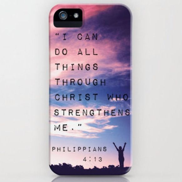 Use this phone case as inspiration and a daily reminder of God's power and strength.