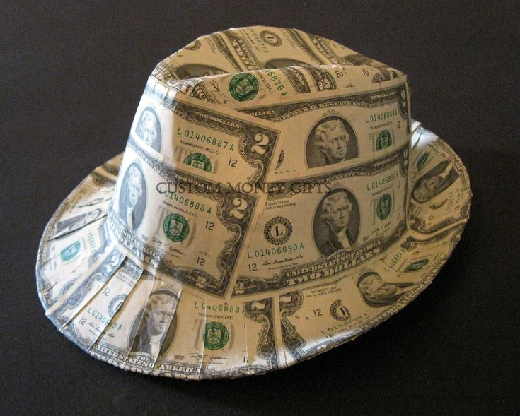 how to make a hat out of money