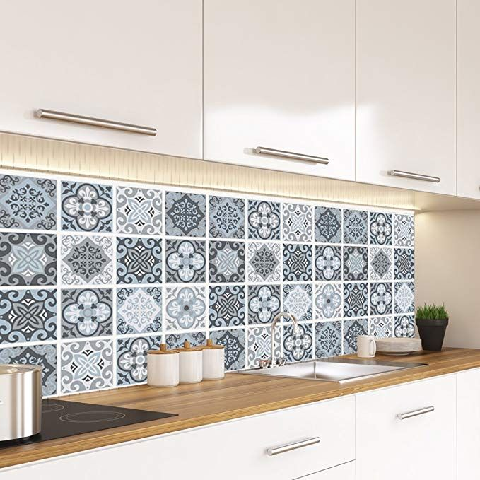Alwayspon Vinyl Floor Wall Tiles Sticker Waterproof Non Slip Splashback Tiles Decal For Kitchen Bathroom Self A Vinyl Flooring Splashback Tiles Kitchen Tiles