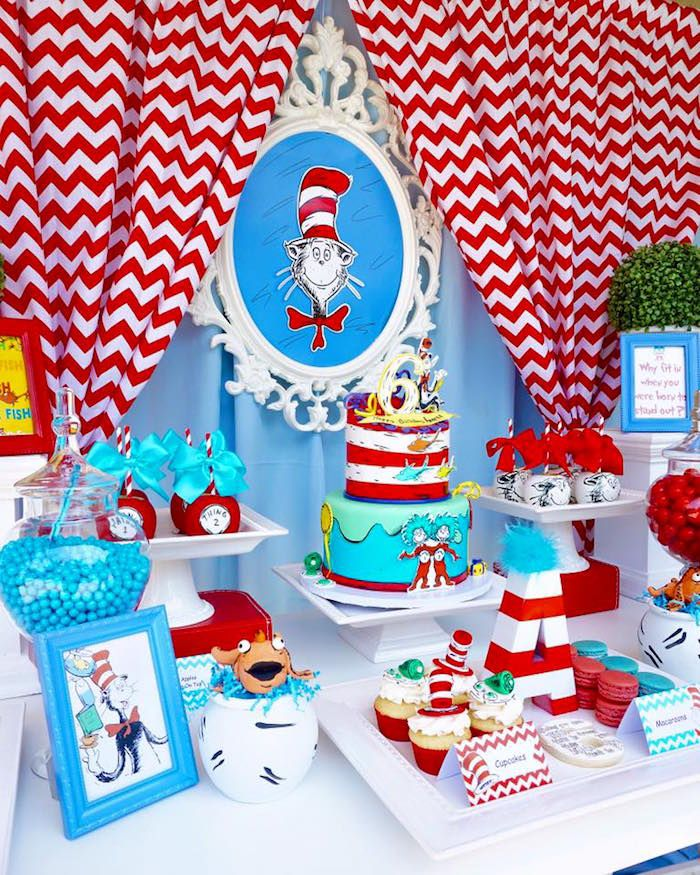 Sweet Table From A Dr Seuss Birthday Party On Karas Ideas
