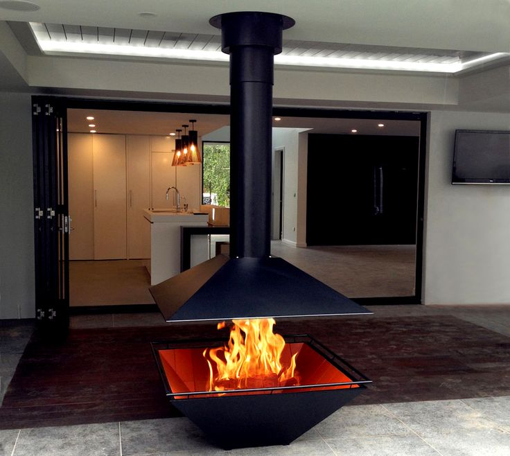 Outdoor Fireplace Caminus 1100 with suspended flue by www.estiadesign.com.au