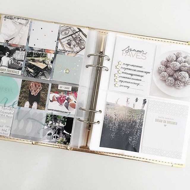 And a little peek inside my album, so happy I have another gold 6x8 album for next years PL #plswe #studiocalico #projectlife