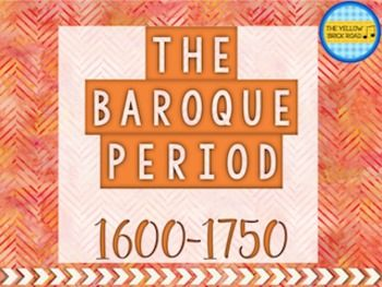 The Baroque Period in Music is a quick guide to music samples, videos, fun facts, and major composers from the Baroque Period. This interactive slideshow allows you to introduce middle school or junior high students to music in the Baroque Period while keeping them engaged with relevant content and creative supplemental activities.