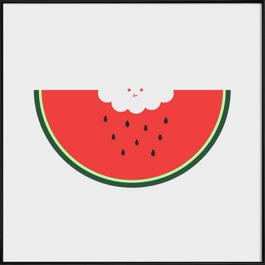 Water Melon - Jaco Haasbroek - Affiche sous cadre standard