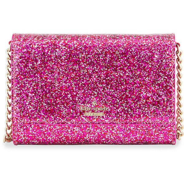 kate spade new york glitter bug cami crossbody bag (215 SGD) ❤ liked on Polyvore featuring bags, handbags, shoulder bags, chain shoulder bag, crossbody handbags, red patent handbag, kate spade shoulder bag and red patent purse