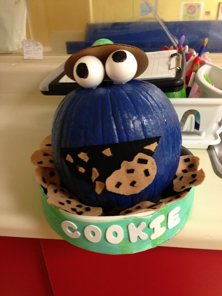 Cookie Monster pumpkin | My creations | Pinterest ...