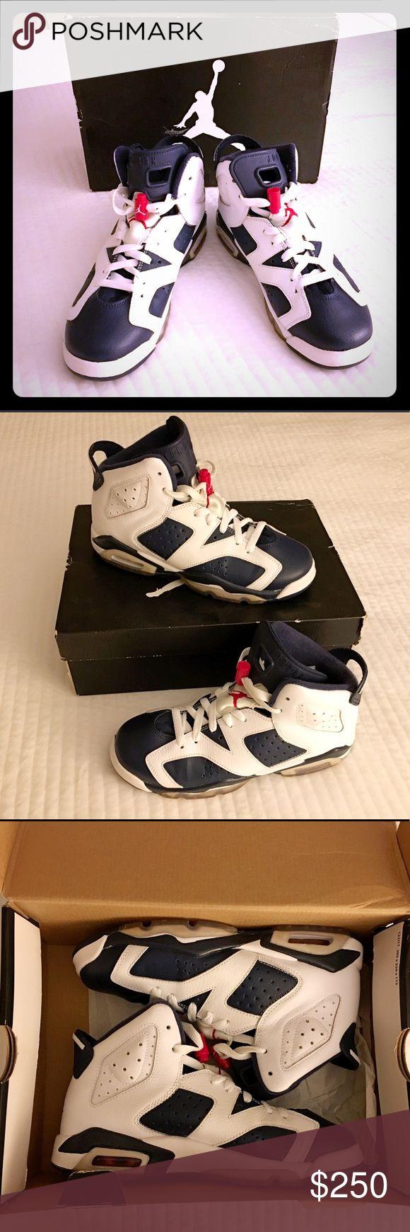 Air Jordan Retro 6 (Olympic 2012) Size 5.5. Like new w/ original box Air Jordan Shoes Athletic Shoes
