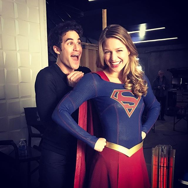 Up up and away we go, #supergirl ! @supergirlcw