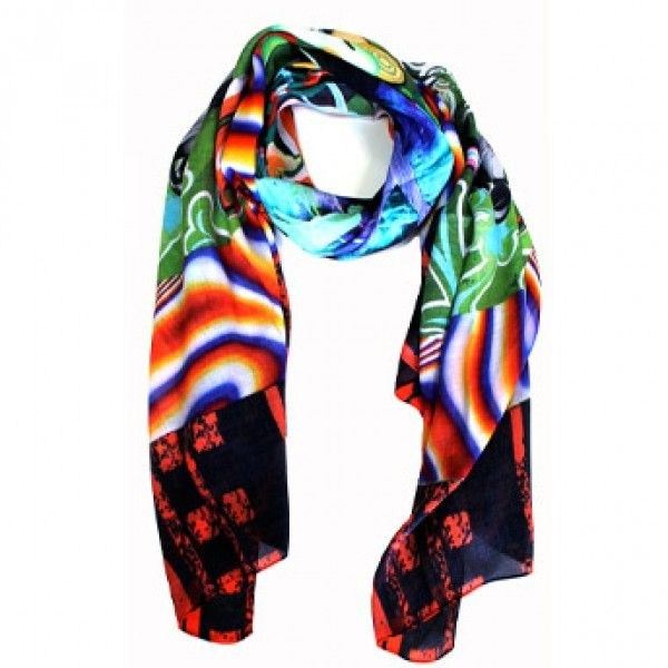 Peace & Love Scarf. Modal fabric. 100% Made in Italy