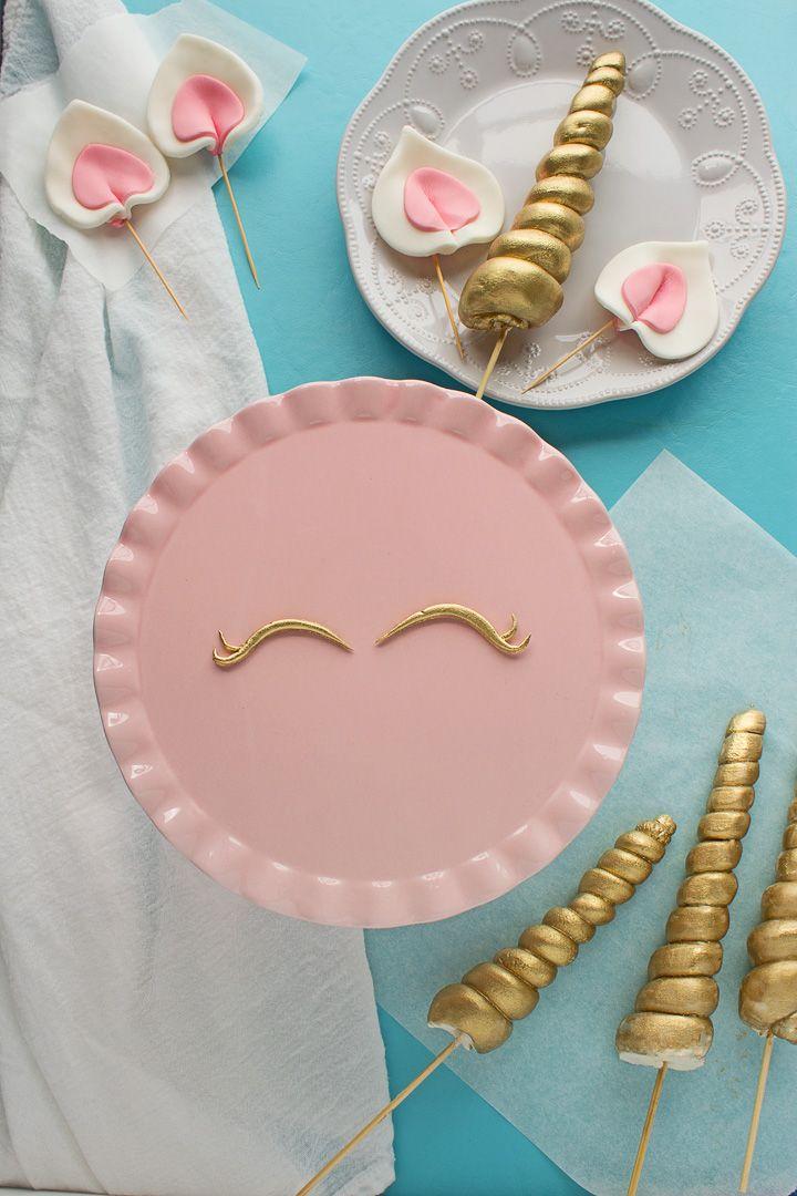 So machen Sie Fondant-Details für Unicorn Cakes   – Bday