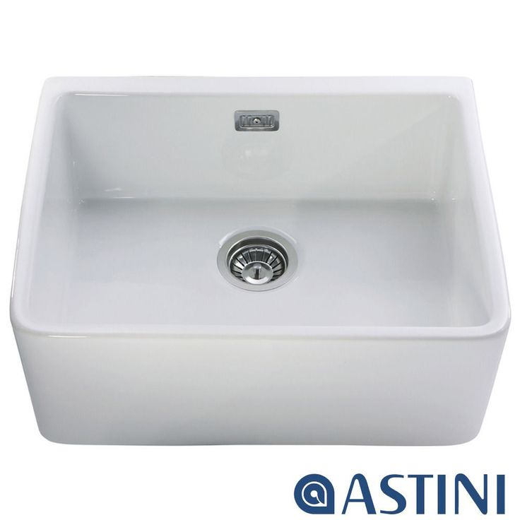 Astini Belfast 600 1.0 Bowl White Ceramic Kitchen Sink | EBay