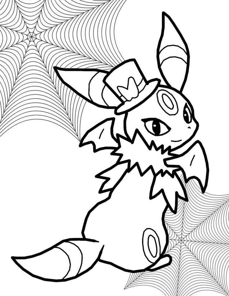 Leafeon Pokemon Coloring Page - youngandtae.com in 2020 ...