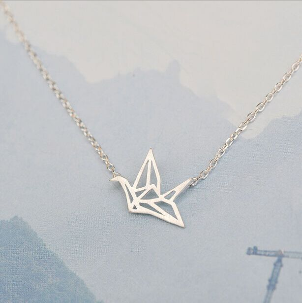 Cheap pendant keychain, Buy Quality pendant crane directly from China pendant charm Suppliers: 925 Sterling Silver Refinement Paper Cranes Short Necklaces & Pendants For Women Simple Sterling Silver Jewelry Collier D8