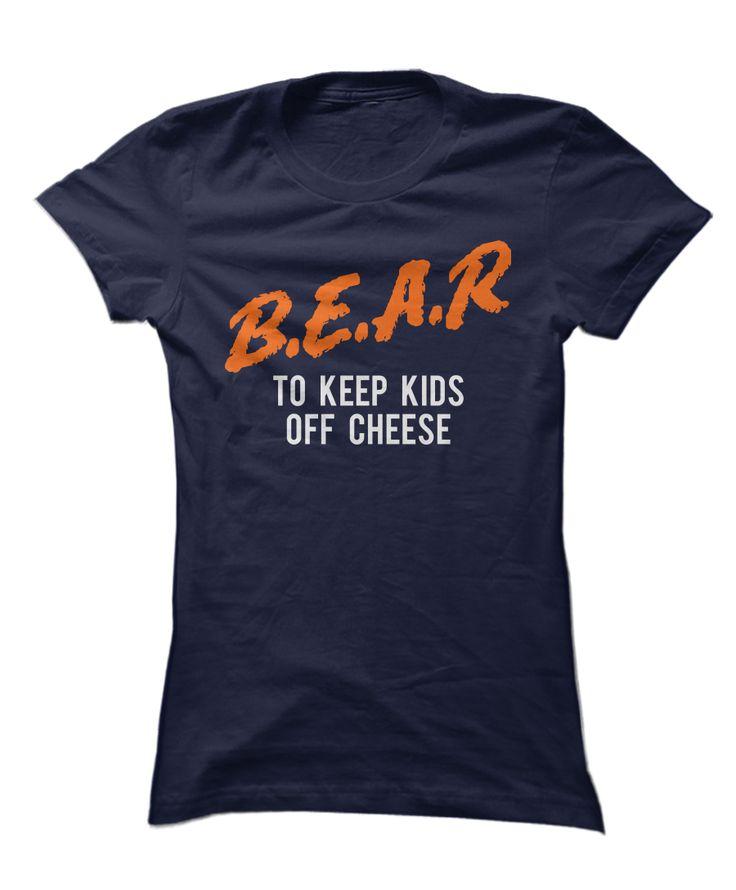 "This Chicago Bears ""B.E.A.R"" funny shirt is sooo hilarious! Da Bears are my…"