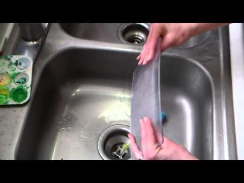 how to clean and straiten die cutter plates - YouTube just hot water and hand sanitizer.. no oven The Frugal Crafter