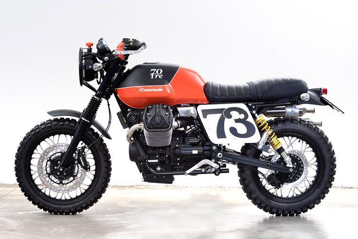 Are you ready? Moto Guzzi #Scrambler ''Ensenada'' by 70tre Motorcycles. Sueña con esta #MotoGuzzi y dale gas a tu moto con estilo ¡Que tengas un buen lunes! www.caferacerpasion.com