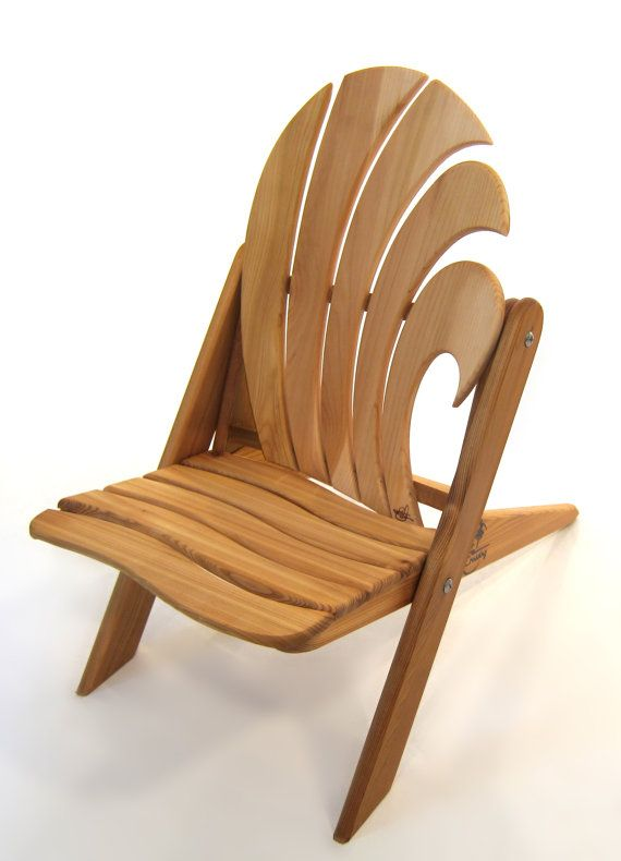 The Ripple, Kid Size Folding Adirondack Chair.  This could easily be made from used pallet wood..